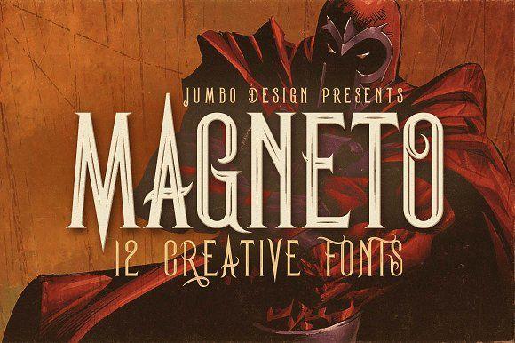 Magneto - Vintage Style Font by JumboDesign on @creativemarket