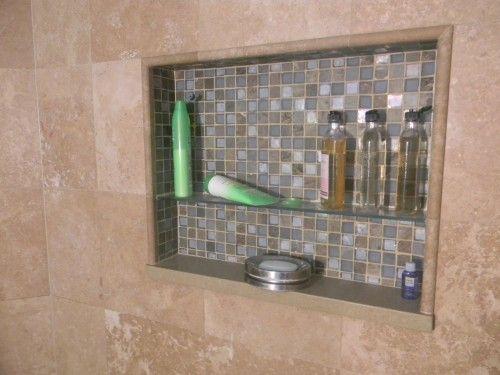 tile shower shelves tile