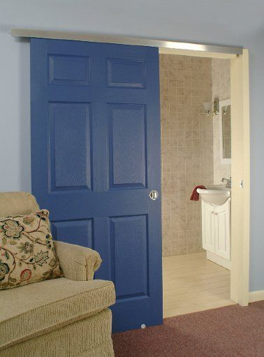 Single Wall Mount Door, Johnson Hardware Used: 2610 Wall Mount Door Hardware, CLICK HERE FOR PRODUCT DETAILS