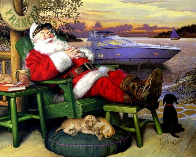 Новогодние морские открытки