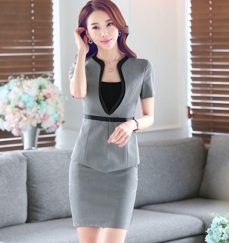 2016 verano nuevo traje profesional femenina de Corea fueron las mujeres delgadas OL temperamento trajes de manga corta traje de marea utillaje -tmall.com Lynx