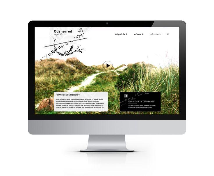 Webportal med app-look. Et eksempel på et site, hvor film, artikler og praktiske tips formidler nyttig viden Odsherreds natur, kultur og historie for iværksættere, turister og tilflyttere.