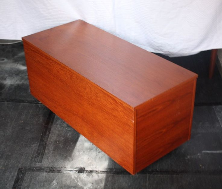 Large Vintage Teak Trunk Blanket Box Coffee Table Storage Danish G Plan Style For Sale Miss B
