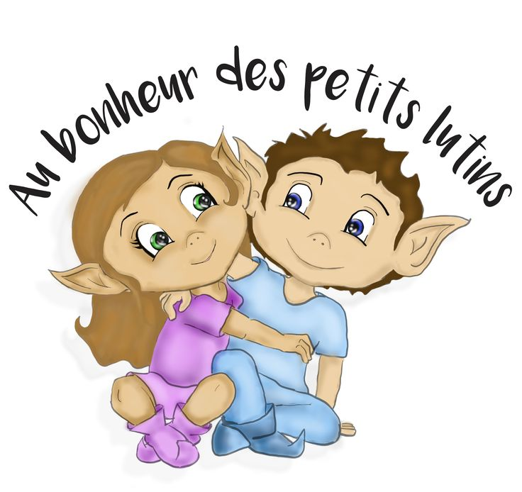 """Logo crée pour """"Au bonheur des petits lutins"""""""