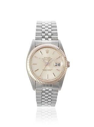 Rolex Men's Datejust Stainless Steel/White Gold Watch