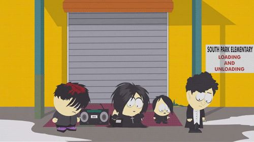 When they understood that making eye-contact is the worst thing a person can do to you. | 16 Times The South Park Goth Kids Saw Into Your Empty, Black Soul