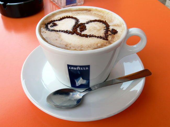 Cappuccino Coffee is perfect for Latte Art and making images with the chocolate powder sprinkled on top