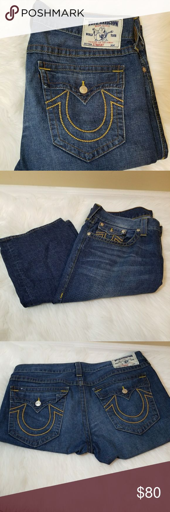 Gently Worn True Religion Jeans True Religion Jeans that are perfect for adding to your collection or starting a new one. Jeans were worn only 2-3 times after purchasing. True Religion Jeans