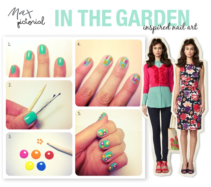 """Max Pictorial... """"In the Garden"""" Inspired Nail Art"""