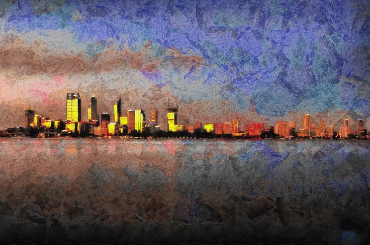 City of Gold by ArtbyOlafur on Etsy