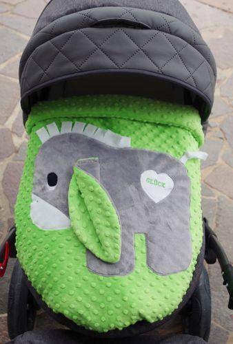 Babykrabbel-und Kinderwagendecke Knubbelz mit Esel