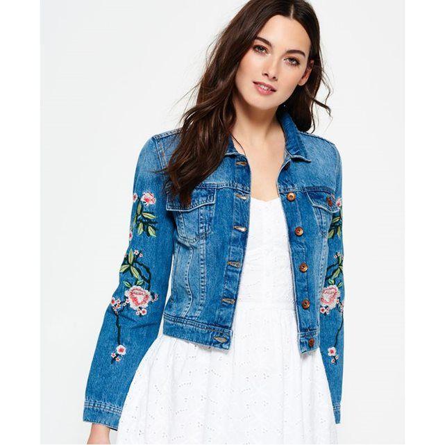 Veste en jean femme la redoute