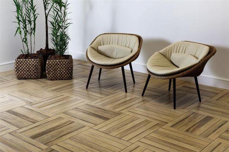 Parece piso de madeira mas é porcelanato