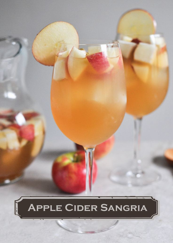 Start a fall tradition this year with a refreshing Apple Cider Sangria drink recipe! Also great for Thanksgiving...
