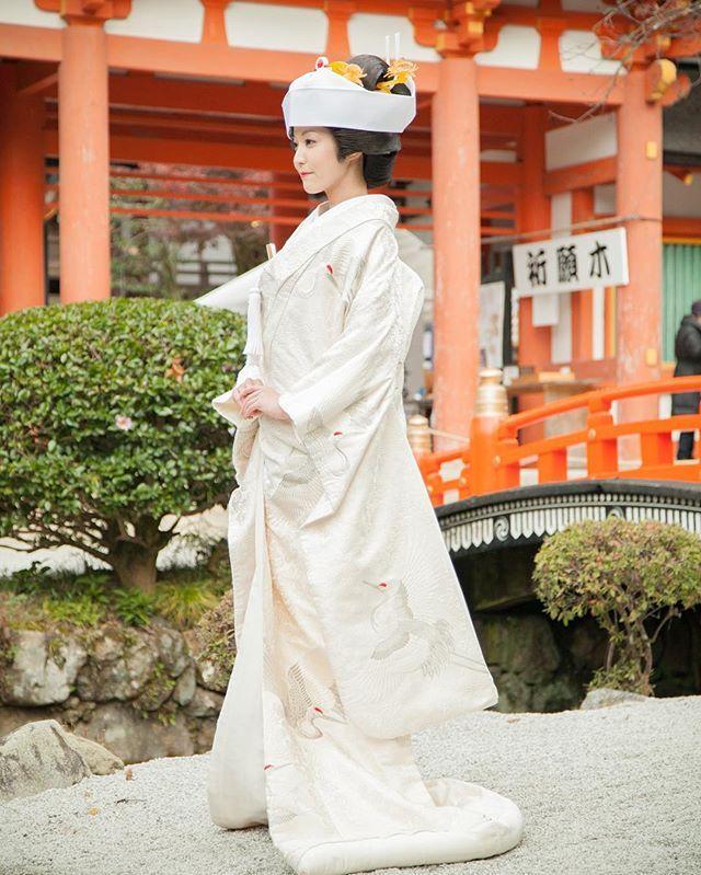 #上賀茂神社#挙式#角隠し#白無垢#和装#kimono#お衣裳さわらぎ#京都結婚物語