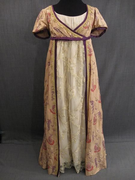 Google Image Result for http://www.osfcostumerentals.org/stock/19th%20Century/Women%27s%20Wear/Early%2019th%20Century%20Women%27s/19th%20C%20Women%27s%20Gowns,%20Dresses/slides/09013151%20Gown%20Women%27s%20Early%2019th%20C,%20gold%20purple%20pink%20paisley%20silk,%20B38.JPG