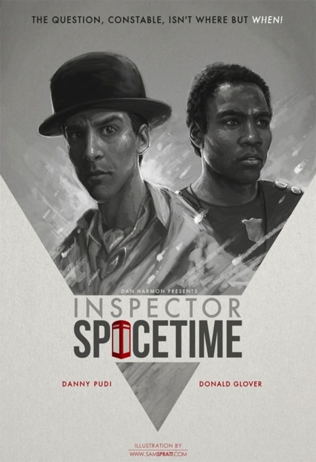 """The show within the show, """"Inspector Spacetime"""" 