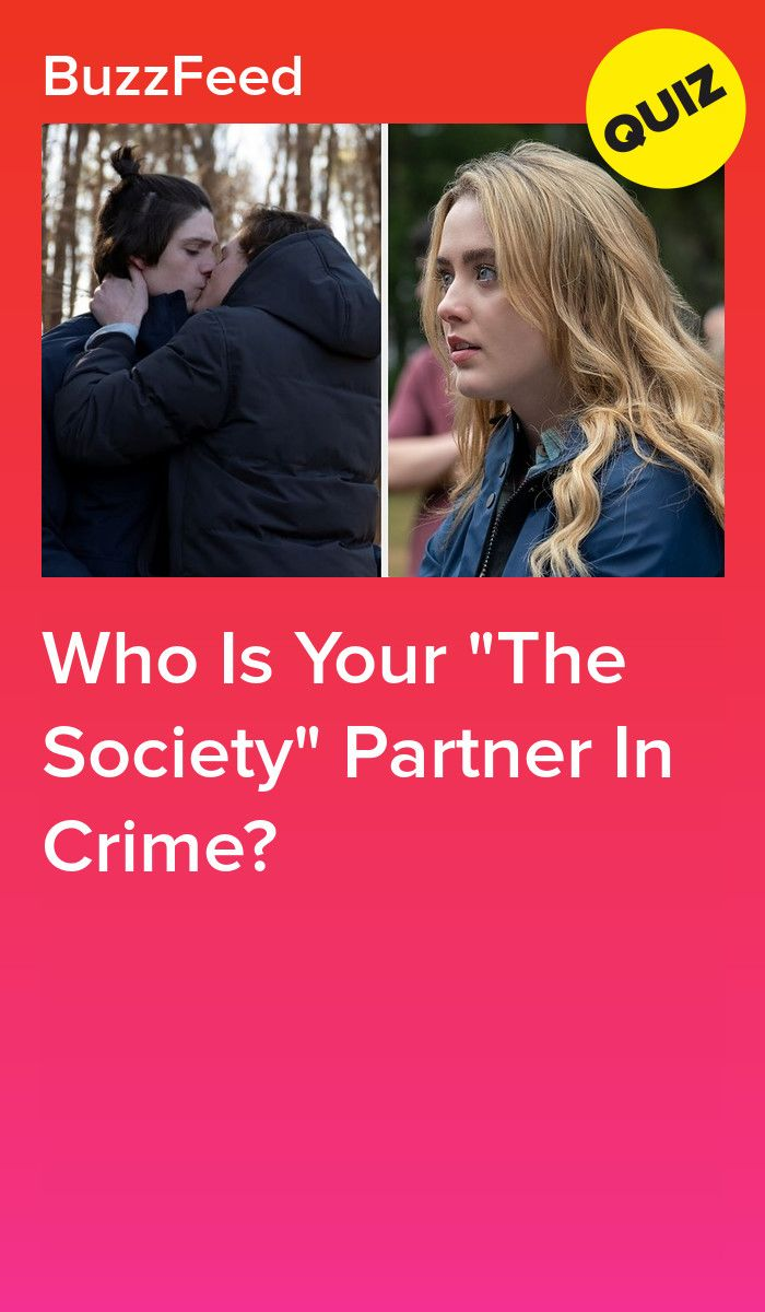 Which The Society Character Is Your Partner In Crime