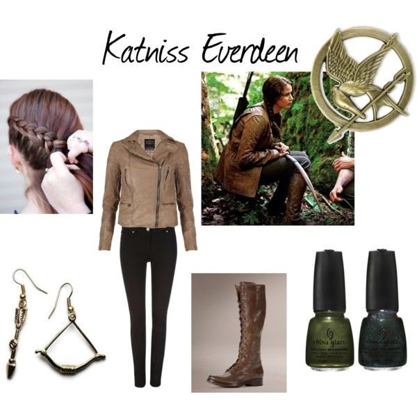 katniss everdeen hunting outfit polyvore this would be an amazing halloween costume i know i - Primrose Everdeen Halloween Costume