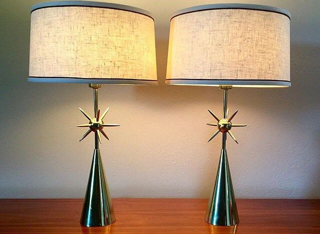 Mid Century Atomic Lamps