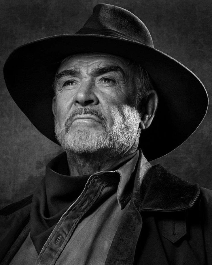 ♂ man portrait black and white Sean Connery (Albert Watson)