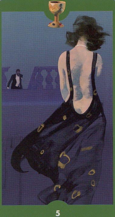 Five of Cups - Tarot of the Imagination by Ferenc Pinter