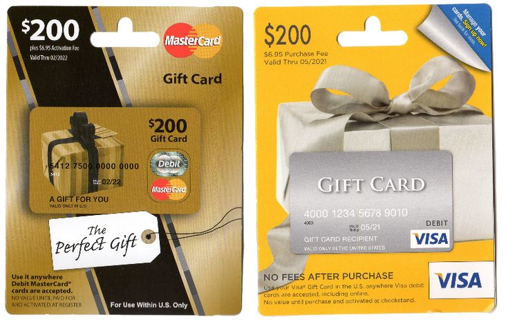 500 one vanilla gift cards from cvs or 200 visa gift