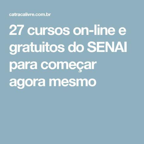 27 cursos on-line e gratuitos do SENAI para começar agora mesmo
