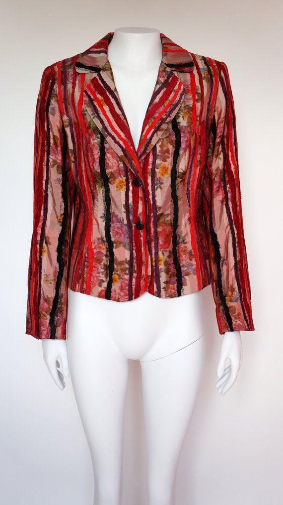 Hello Im glad youre here VINTAGE PANDORA shop  I offer vintage KENZO JUNGLE jacket 80%cotton 20% polyester color:red/black/multicolor black/red