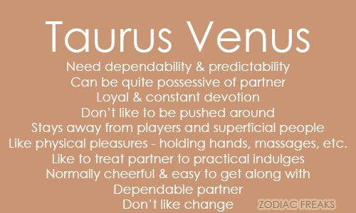 Taurus woman traits list