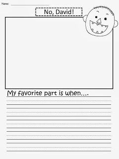 Free: No David Writing Paper. My favorite part is when....Freebie For A Teacher From A Teacher! Enjoy! fairytalesandfictionby2.blogspot.com