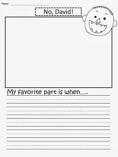 Free: No David Writing Paper. My favorite part is when....Freebie For A Teacher From A Teacher! Enjoy! fairytalesandfictionby2.blogspot.com