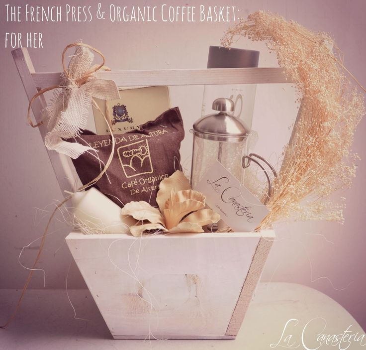 The French Press & Organic Coffee Basket: For Her