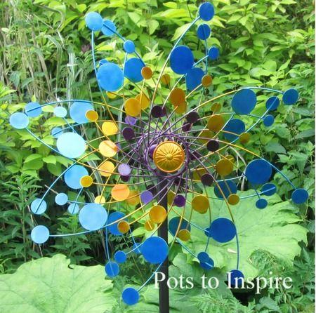 Metal Eclipse Wind Spinner Garden Sculpture   Woodside Garden Centre   Pots  To Inspire