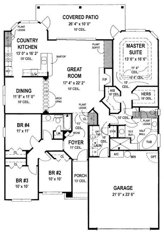 House Plan 4766 00038 Ranch Plan 2 026 Square Feet 4