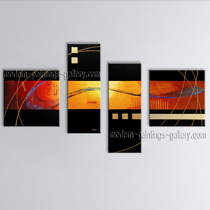 Large Modern Abstract Oil Painting On Canvas Wall Art Home ...