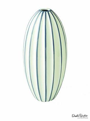 Dwell Studio by Global Views Ribbed Vase, Grey/White, Medium