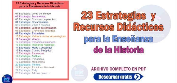 Material Educativo Materiales Educativos Para Docentes Enseñanza De La Historia Recursos Didácticos Didactico