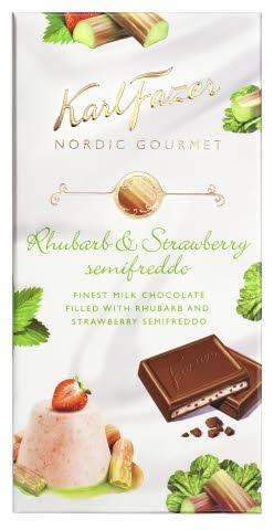Fazer Gourmet mansikka-raparperi suklaa, voisi kokeilla