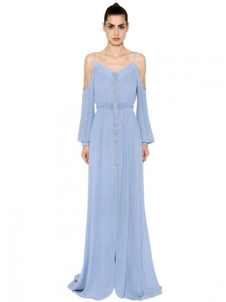 12 langes kleid hellblau