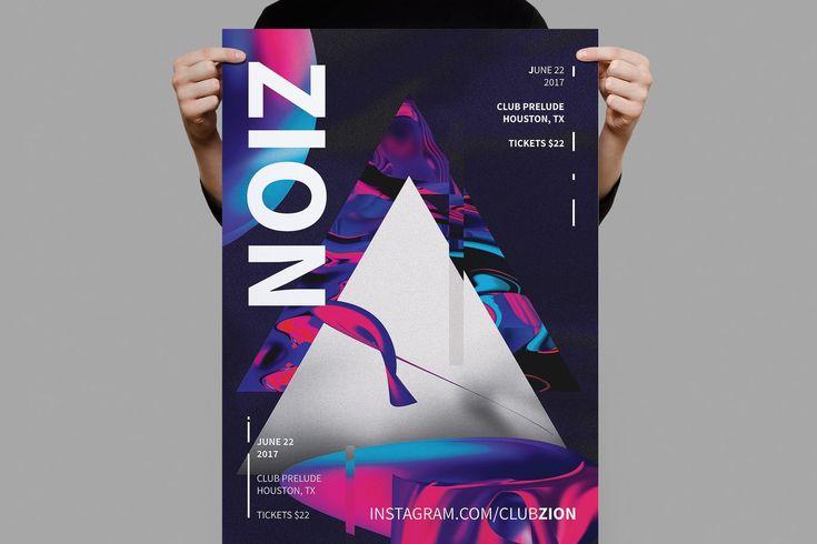 Zion Poster / Flyer Template PSD - A3
