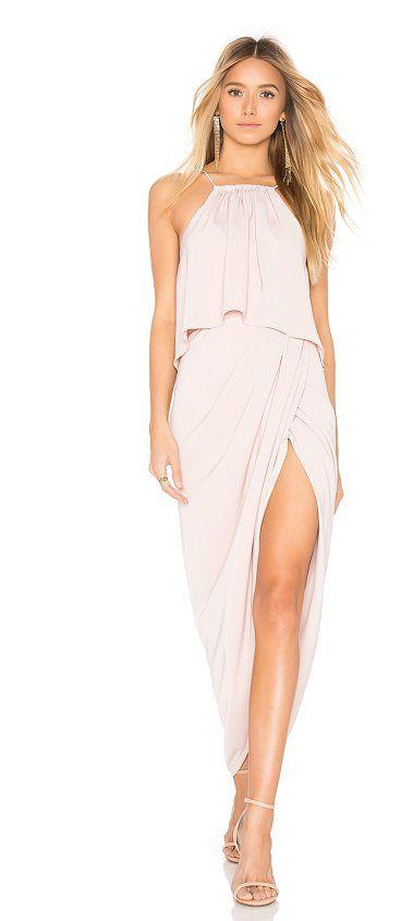 High Neck Frill Dress by Shona Joy. Self & Lining: 100% poly. Hand wash cold. Fully lined. Flounce bodice overlay. Surplice skirt. Back tie closure. Hidden back zipper closure. SHON-WD231. SJ3411. Australian designer Shona Joy mingles sexy chic with quirky fun. Since launc... #shonajoy #dresses