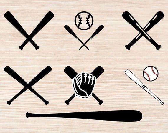29+ Crossed baseball bat clipart ideas
