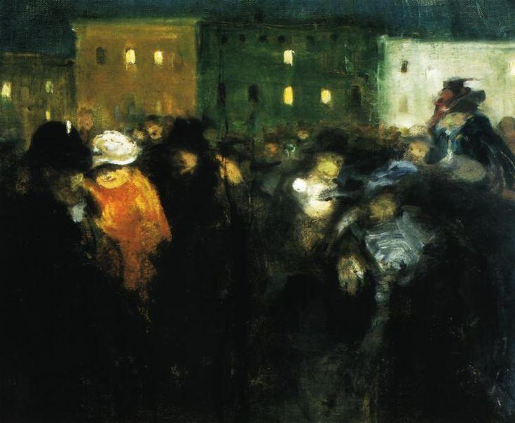"""Witold Wojtkiewicz  """"Mi-Careme"""", 1907, olej na płótnie, Muzeum Narodowe, Warszawa"""