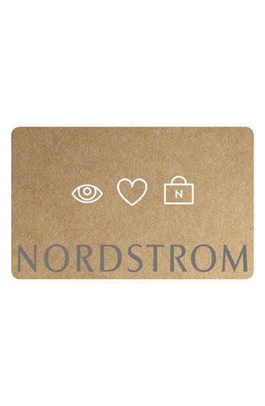 Free shipping and returns on I Love Nordstrom Gift Card at Nordstrom.com. Gift card arrives packaged in a small box tied with a bow. Please select from one of the convenient dollar amounts listed below.<br><br>At Nordstrom, we stand behind our merchandise <i>and</i> our Gift Cards. The Nordstrom Gift Card never expires, it has no fee and it's backed by our long-standing commitment to you, our customer.