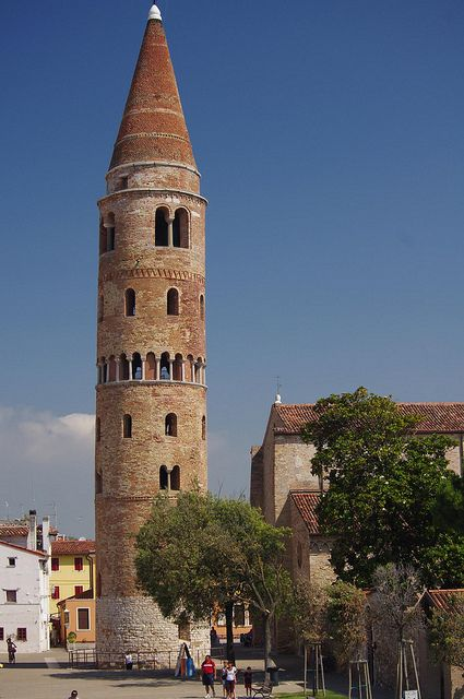Bell tower of Caorle, Veneto, Italy -