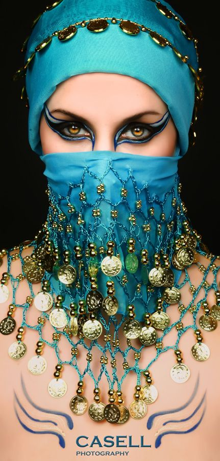 belly dance belts used for veil and face mask.