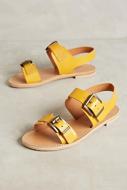 Giovanetti Yellow Leather Sandals