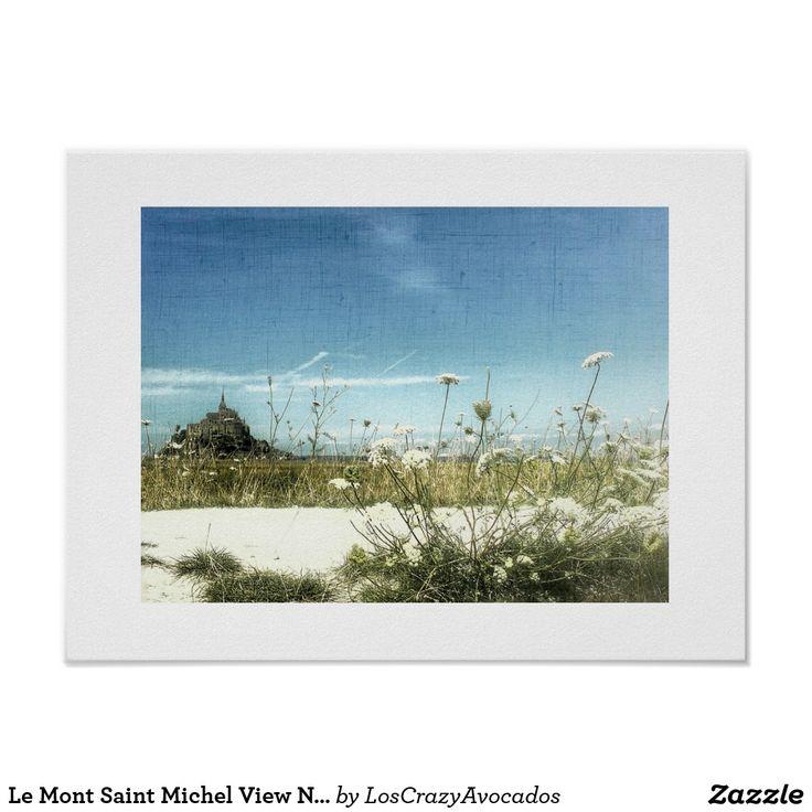 Le Mont Saint Michel View Normandy France Poster