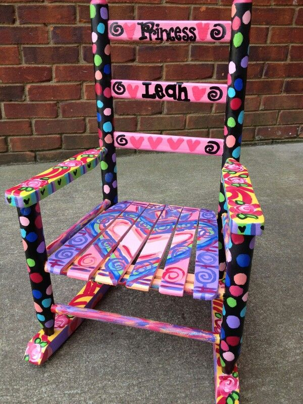61 Best Hand Painted Rocking Chairs Images On Pinterest
